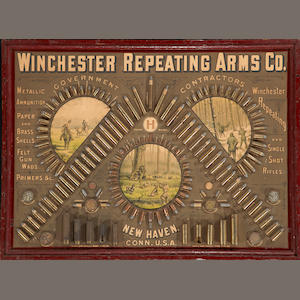 A Winchester Repeating Arms Co. Model 1888 'Inverted V' cartridge board