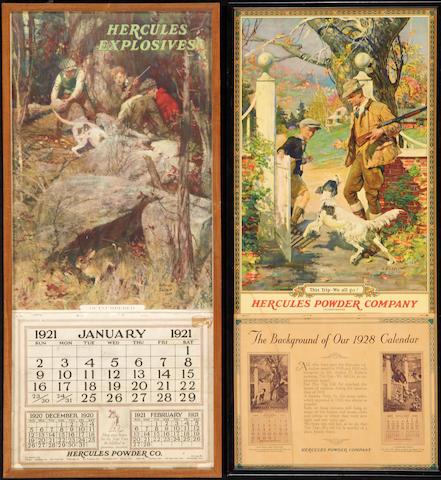 A lot of two Hercules Powder Company calendars