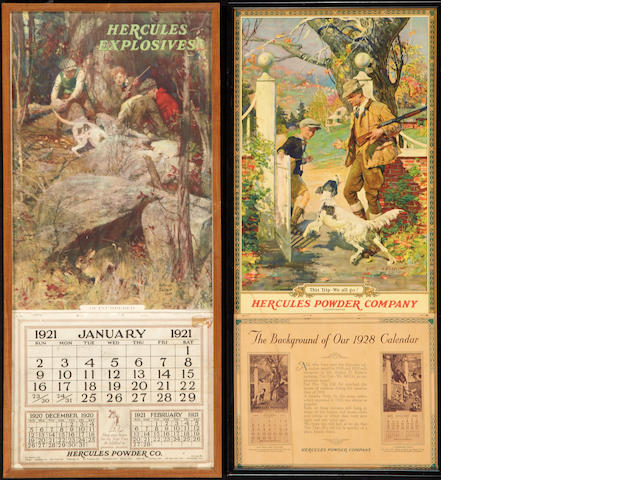 A lot of two Hercules Powder Company calendars
