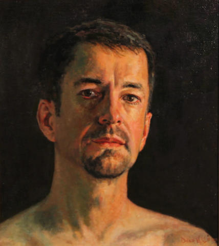 Dean Larson (American, born 1957) Self Portrait, 2003 15 x 13in