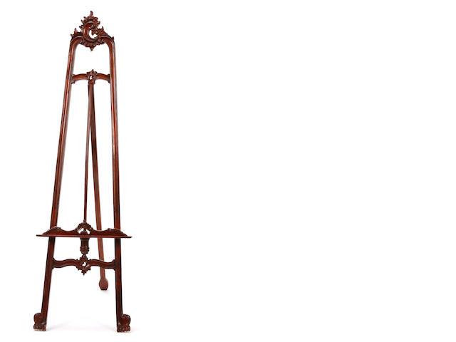 A Louis XV style mahogany easel