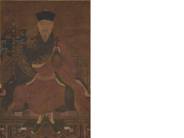 A large portrait of a offical Ming Dynasty