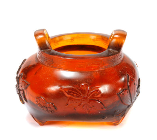 A small Peking glass censer