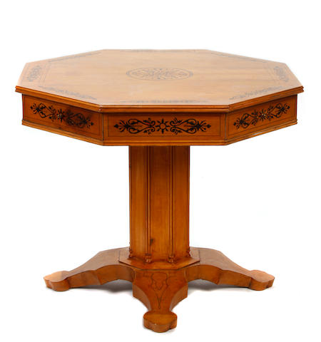 A Charles X style center table
