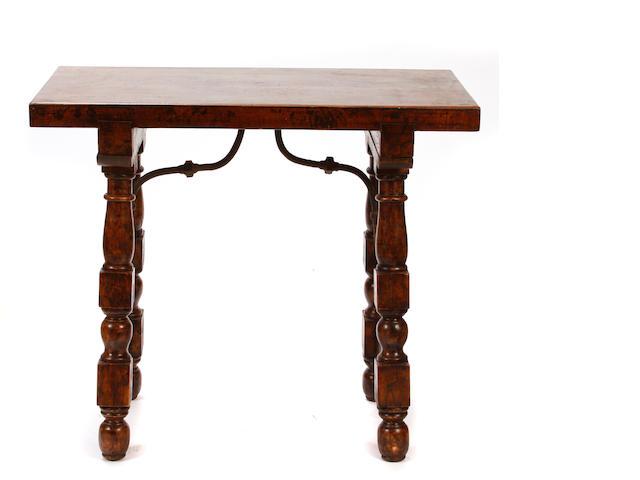 A Renaissance style trestle table