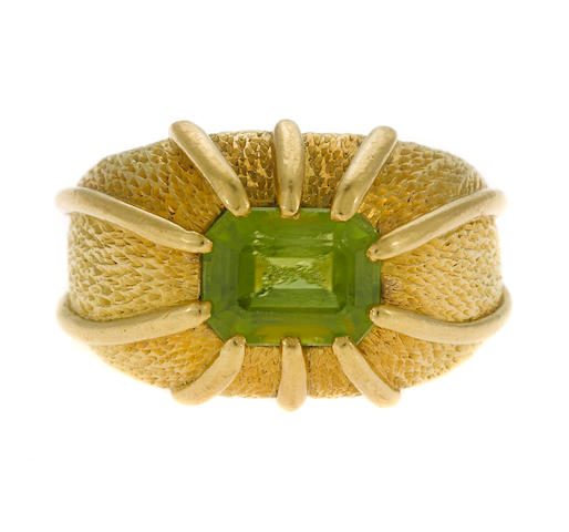 A peridot ring, Jean Schlumberger, Tiffany & Co.
