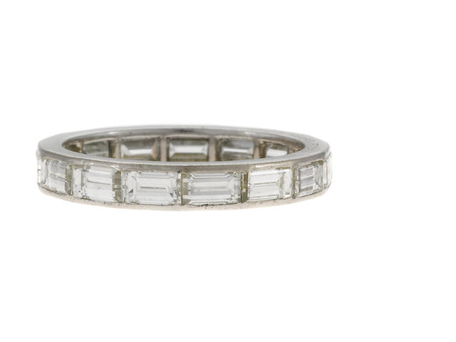 A diamond and platinum ring, VCA