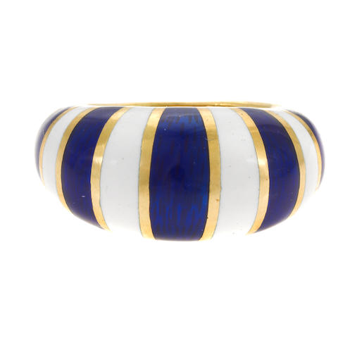 An enamel and gold ring, VCA; no. 105524