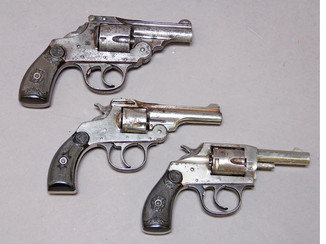 A lot of three American double action revolvers