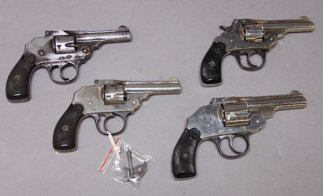 A lot of four American double action revolvers