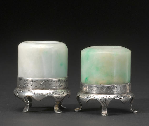 A pair of jadeite archers rings