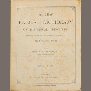 OXFORD ENGLISH DICTIONARY. MURRAY, JAMES A.H. 1837-1915, et al. A New English Dictionary on Historical Principles. Oxford: Clarendon Press, 1884-1933..