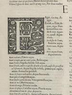 ESTIENNE, ROBERT. 1503-1559. Dictionaire francoislatin, autrement dict les mots Francois, avec les manieres duser diceulx, tournez en Latin. Paris: Robert Estienne, July 27, 1549.