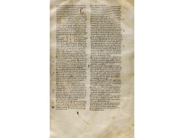 PAPIAS THE GRAMMARIAN. fl.1040s-1060s. Latin manuscript on vellum, Elementarium doctrinae rudimentum. [Northeast Italy, late 13th century.]