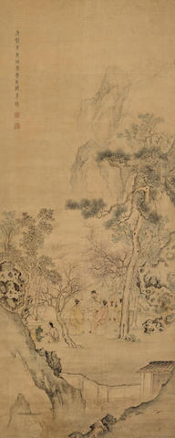 Attributed to Gu Jianlong (1606-after 1687) Night Banquet in the Peach Blossom Garden, 1691