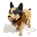 A French papier-mâché model of a bulldog  early 20th century