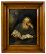 A K.P.M. porcelain plaque