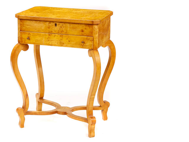 A pair of Biedermeier style side tables