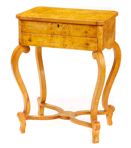 A pair of Biedermeier style side tables