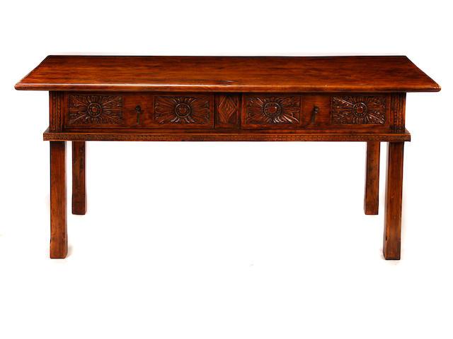 An Italian Renaissance style oak table
