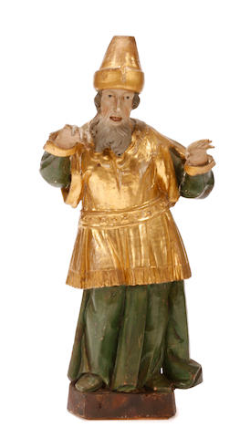 A Renaissance style paint decorated figure