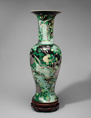 Tall baluster form vase