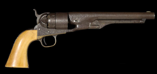 A factory engraved Colt Model 1860 Army percussion revolver