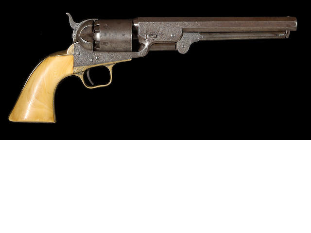 A factory engraved Colt Model 1851 Navy percussion revolver