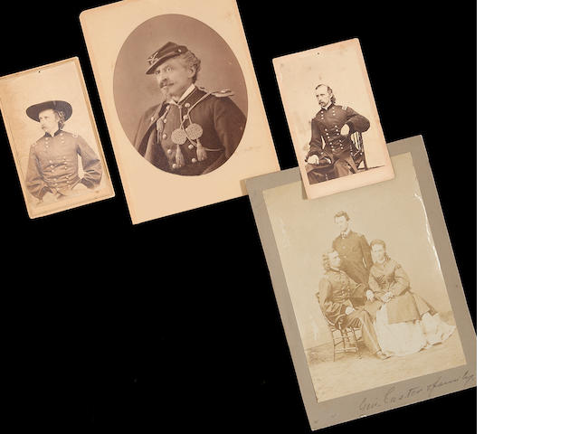 A group of Indian War era photographs of George Armstrong Custer and others