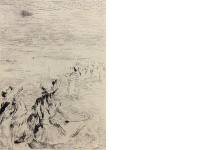 Pierre August Renoir, Sur la plage;