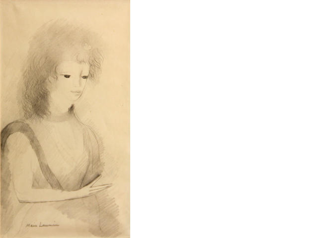 Marie Laurencin (French, 1885-1956), **PENDING AUTHENTICATION** Femme 10 5/8 x 5 7/8in