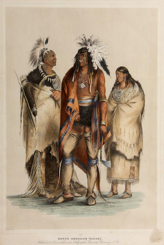 After George Catalin, Pl. 1, from North American Indians;