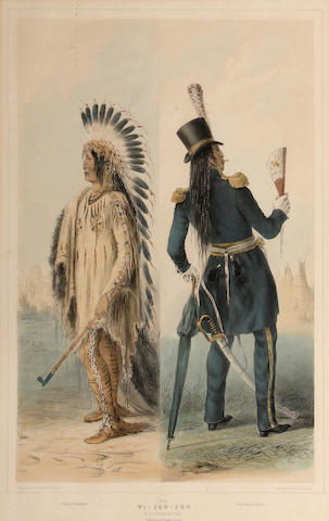 After George Catlin (American, 1794-1872); Wi-Jun-Jon, Pl. 25, from the North American Indian Portfolio;