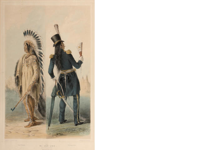 After George Catlin, Pl. 25, from North American Indians;
