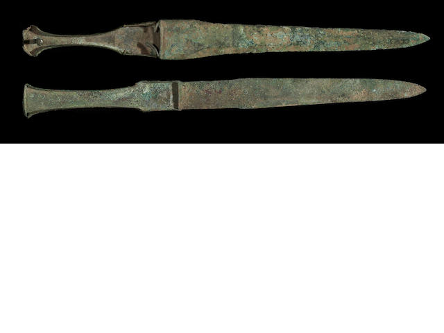 A lot of two Persian Bronze Age daggers