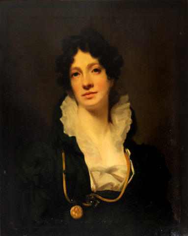 After Sir Henry Raeburn, RA A portrait of Mrs. James Smith of Jordanhill 30 1/4 x 25 1/4in