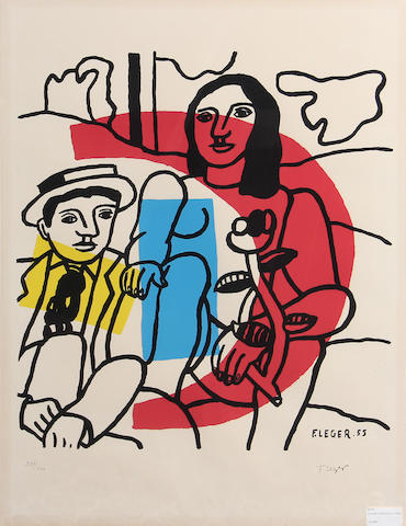 After Fernand Léger (French, 1881-1955); ** signed and stamped?? Le couple;