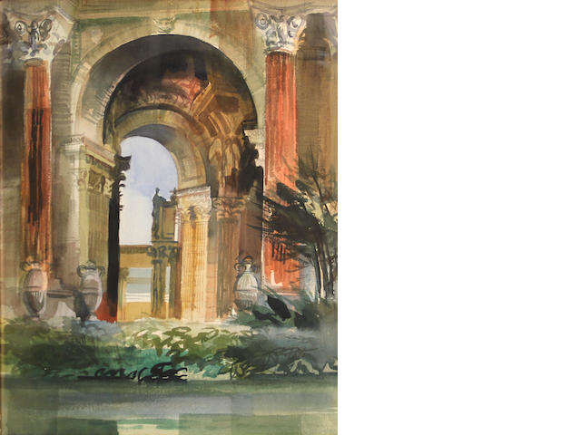 Kenneth George Potter (American, 1926-2011) Palace of Fine Arts, San Francisco 24 x 18in