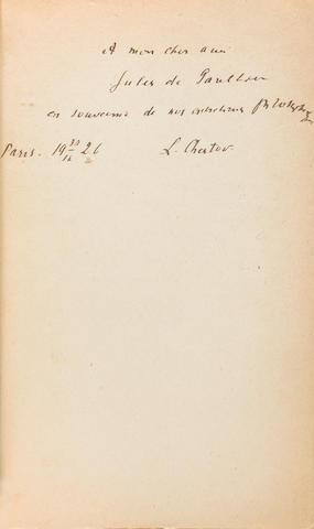 CHESTOV, LÉON. 1866-1938. La Philosophie de la tragédie.  Dostoïewsky et Nietzsche. Paris: J. Schiffrin, 1926.<BR />