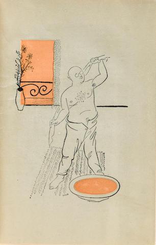 OLESHA, YURI. 1899-1960. AL'TMAN, NATAN, illustrator. Zavist. [Envy.] Moscow & Leningrad: Zempai Favrika, 1928.<BR />