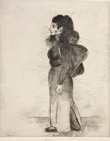 Raphael Soyer (American, 1899-1987); A Group of Etchings; (3)
