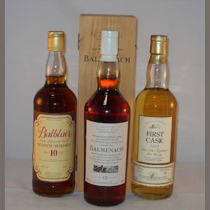 Balblair 10 year old (1) .  Balmenach 12 year old (1) .  Blair Atholl 1973- 21 year old (1)
