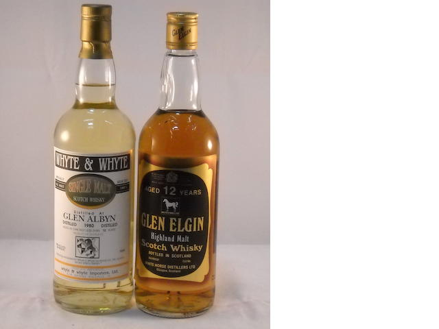 Glen Albyn 1980- 12 year old (1) <BR /> Glen Elgin 12 year old (1)