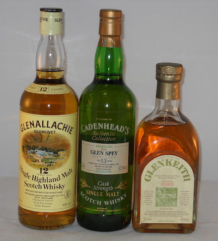 Glenallechie 12 year old (1) <BR /> Glen Spey 1981- 13 year old (1) <BR /> Glen Keith 1983- 10 year old (1)
