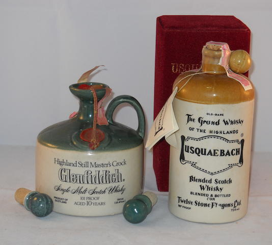 Glenfiddich 10 year old (1) <BR /> Usquaebach (1)