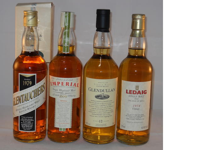 Glentauchers 1979- 17 year old (1) <BR /> Imperial 1979 (1) <BR /> Glendullan 12 year old (1) <BR /> Ledaig 1974 (1)