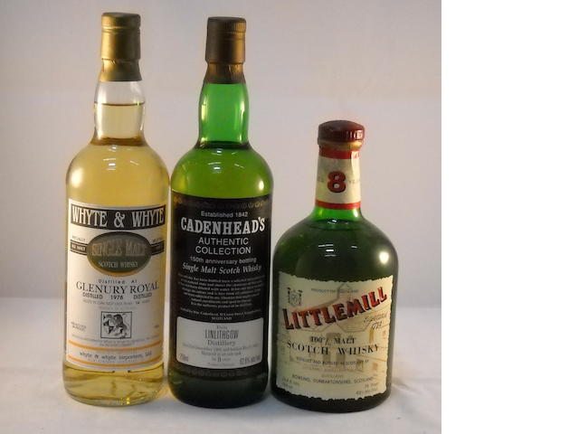Glenury Royal 1978- 14 year old (1) <BR /> Linlithgow 1982- 9 year old (1) <BR /> Littlemill 8 year old (1)