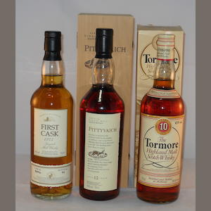 Macallan 1975- 20 year old (1) .  Pittyvaich 12 year old (1) .  Tormore 10 year old (1)
