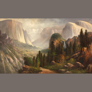 John Englehart (American, 1867-1915) Yosemite Valley from Inspiration Point 22 x 36in