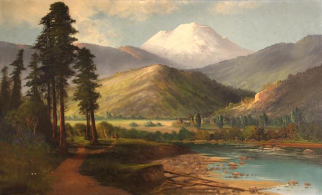 John Englehart (American, 1867-1915) Mt. Shasta 22 x 36in